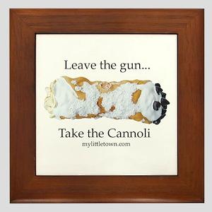 Cannoli Framed Tile