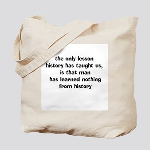 History Lesson Tote Bag