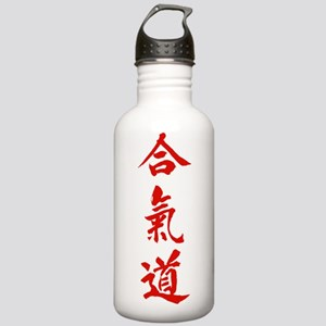 Aikido red in Japanese calligraphy Stainless Water