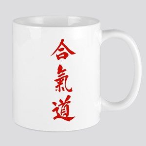 Aikido red in Japanese calligraphy Mug