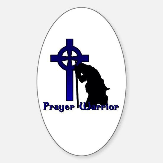 Prayer Knight Blue Sticker (Oval)