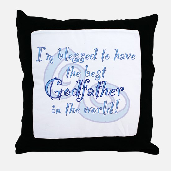 Blessed Godfather BL Throw Pillow