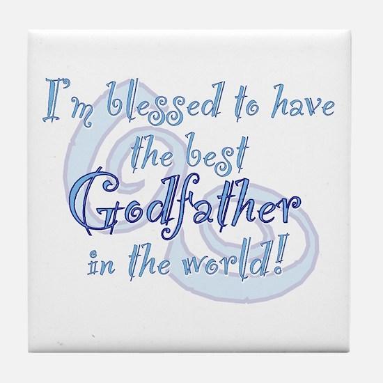 Blessed Godfather BL Tile Coaster