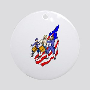 Fife and Drum Ornament (Round)