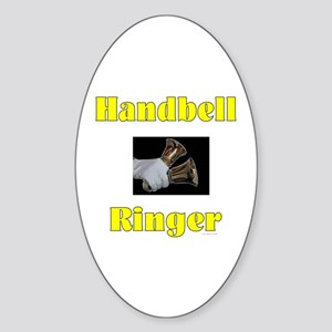 Handbell Ringer Oval Sticker