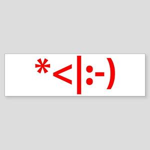 Christmas Elf Emoticon Smiley Sticker (Bumper)