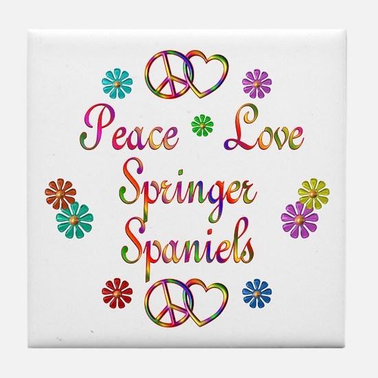 Springer Spaniels Tile Coaster