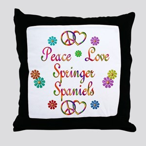 Springer Spaniels Throw Pillow