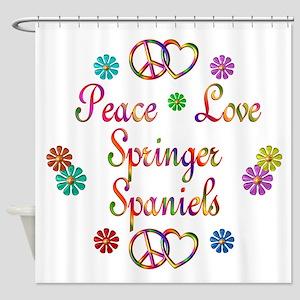 Springer Spaniels Shower Curtain