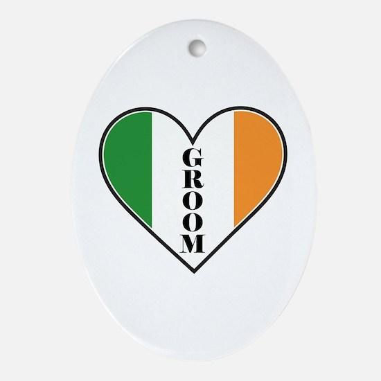 IRISH GROOM Ornament (Oval)