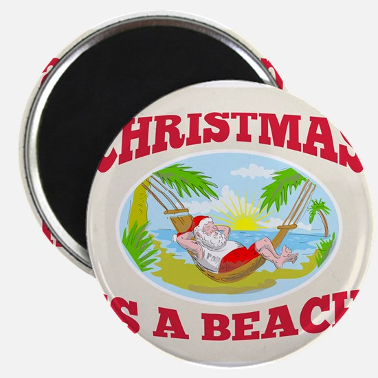 Santa Claus Father Christmas Beach Relaxing Magnet
