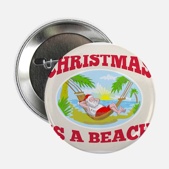 Santa Claus Father Christmas Beach Relaxing 2.25""