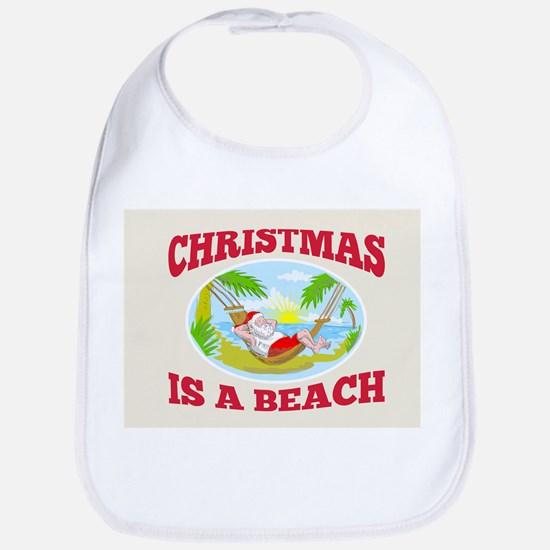 Santa Claus Father Christmas Beach Relaxing Bib