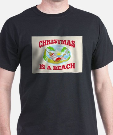Santa Claus Father Christmas Beach Relaxing T-Shirt