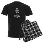 Keep Calm Travel On Men's Dark Pajamas