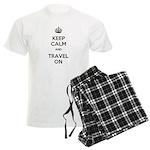 Keep Calm Travel On Men's Light Pajamas