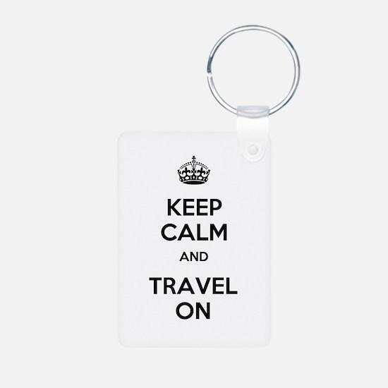 Keep Calm Travel On Keychains