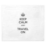 Keep Calm Travel On King Duvet