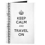 Keep Calm Travel On Journal