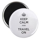 Keep Calm Travel On Magnet