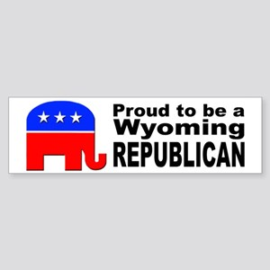 Wyoming Republican Pride Sticker (Bumper)