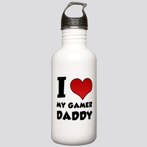 I Love My Gamer Daddy Stainless Water Bottle 1.0L