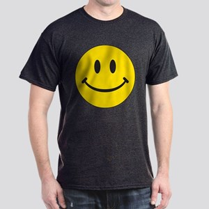 Big Yellow Happy Face Dark T-Shirt