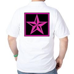 Hot Pink Nautical Star Golf Shirt