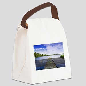 LDS Quotes- I will go and do... Canvas Lunch Bag
