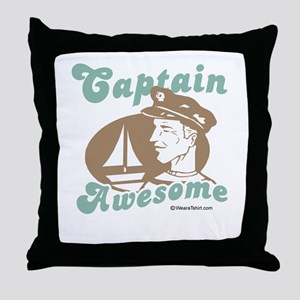 Captain Awesome -  Throw Pillow