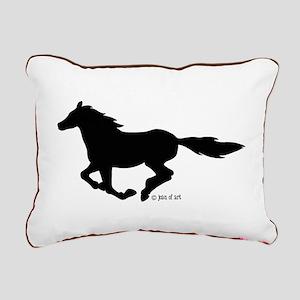 HORSE (black) Rectangular Canvas Pillow