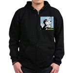 Stinky Cheese Sandwhich Zip Hoodie (dark)