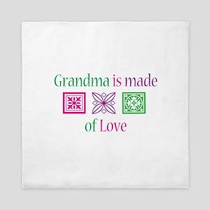 Grandma Is Made of Love Queen Duvet