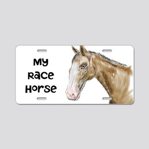 My Race Horse Aluminum License Plate