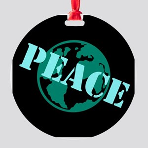 Peace on Earth Round Ornament