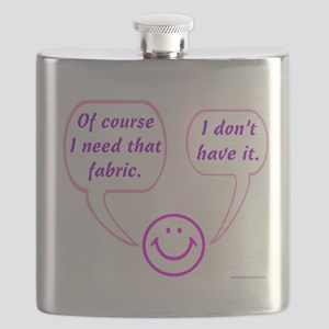 I Need That Fabric Flask
