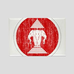 Laos Roundel Rectangle Magnet