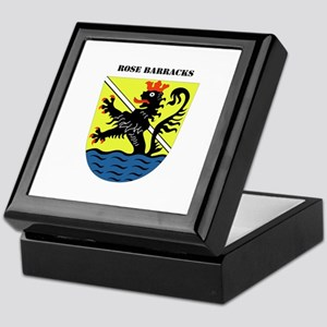 Rose Barracks with Text Keepsake Box