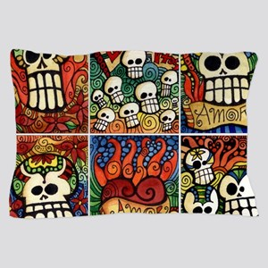 Day of the Dead Sugar Skulls Pillow Case
