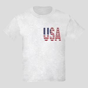 USA flag 2 Side Kids Light T-Shirt