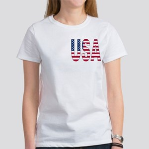USA flag 2 Side Women's T-Shirt