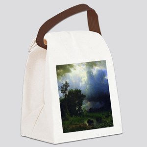 Bierstadt Before The Storm Canvas Lunch Bag
