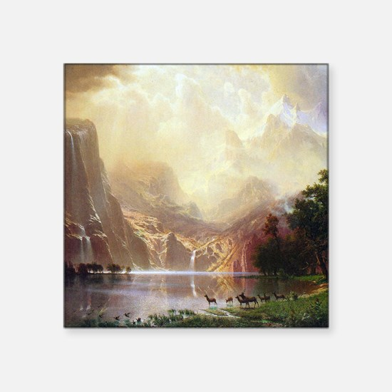 "Bierstadt Sierra Nevada Square Sticker 3"" x 3"""