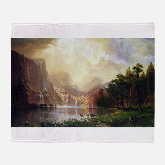 Bierstadt Sierra Nevada Throw Blanket