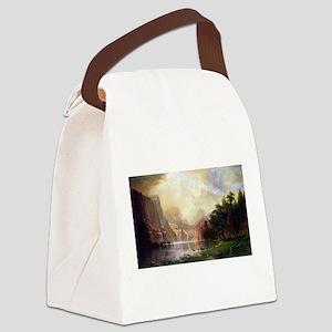 Bierstadt Sierra Nevada Canvas Lunch Bag