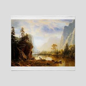 Albert Bierstadt Yosemite Valley Throw Blanket