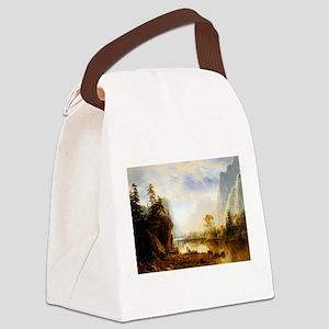 Albert Bierstadt Yosemite Valley Canvas Lunch Bag