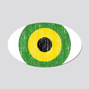 Jamaica Roundel 20x12 Oval Wall Decal