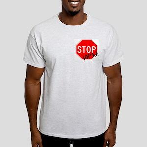 Stop HIPAA Ash Grey T-Shirt