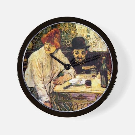 Toulouse-Lautrec Restaurant Wall Clock